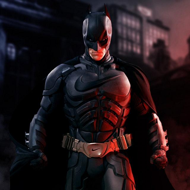 Sponsored Superheroes: batman parody nike brand