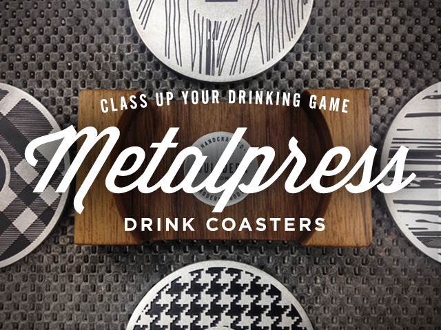 metalpress drink coasters kickstarter