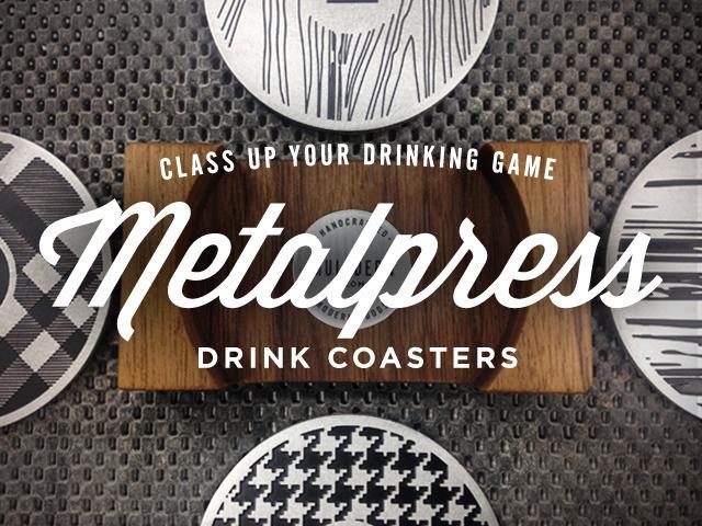 metalpress drink coasters kickstarter
