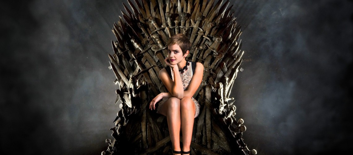 Emma-Watson-on-the-Iron-Throne