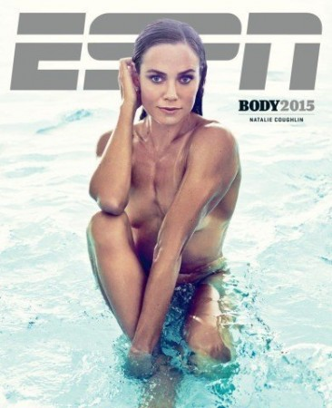 Coughlin on cover of 2015 Body Issue. Courtesy of swimswam.com.